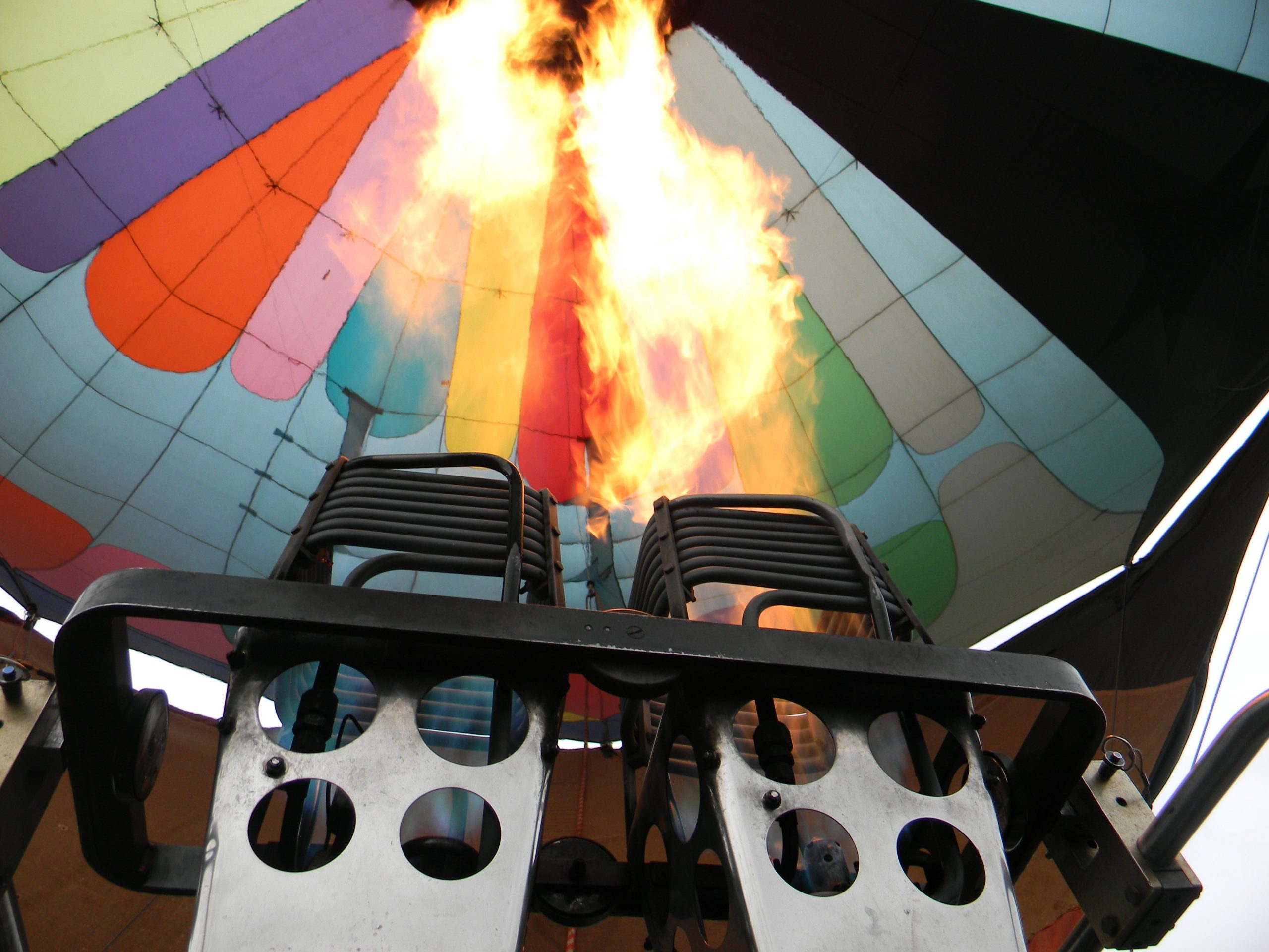 a photo of the inside of a hot air balloon
